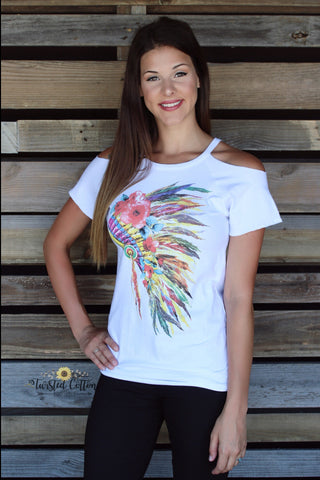 Feathered Watercolor Headdress top