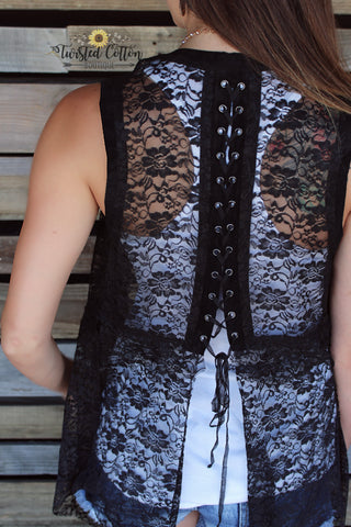 Laced in Elegance vest