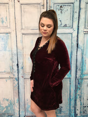 Vegas Velvet Lace Up Dress