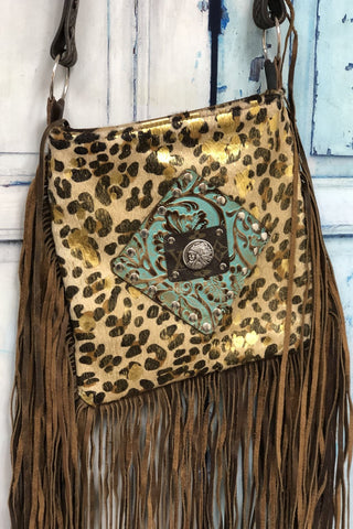 Upcycled LV Golden Leopard Beauty