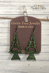 Wood Holiday Earrings