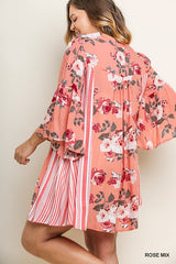 umgee mango mix plus size dress rose