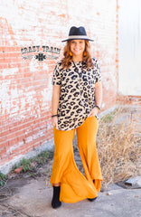 Mustard Paltrow Pants by Crazy Train Clothing