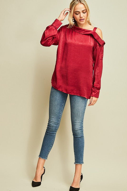 Be Mine dark red top