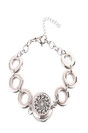 Swirling Cloud Essential Oil Diffusing Bracelet