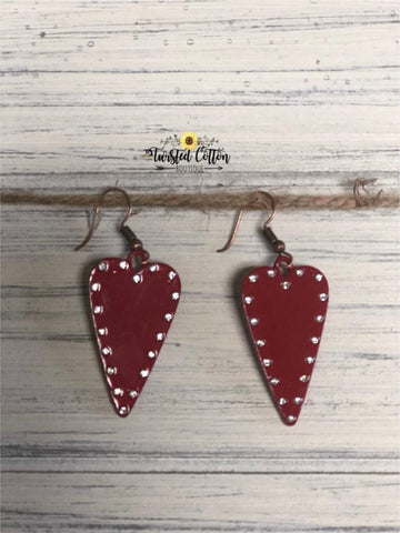 Straight To My Heart Red Earrings