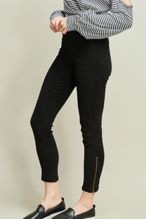 Black Suedette Leggings