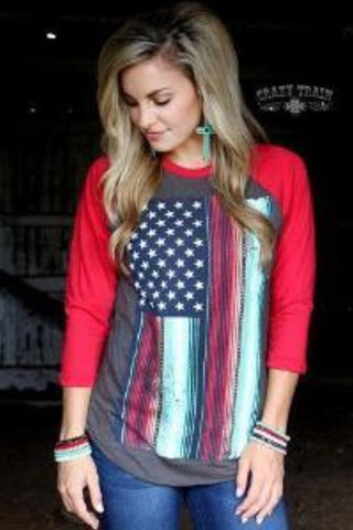 The star spangled baseball tee