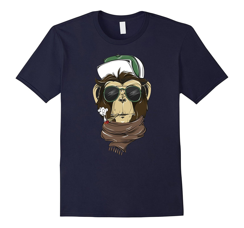 Amazing Smoking Monkey with Glasses Tees gift