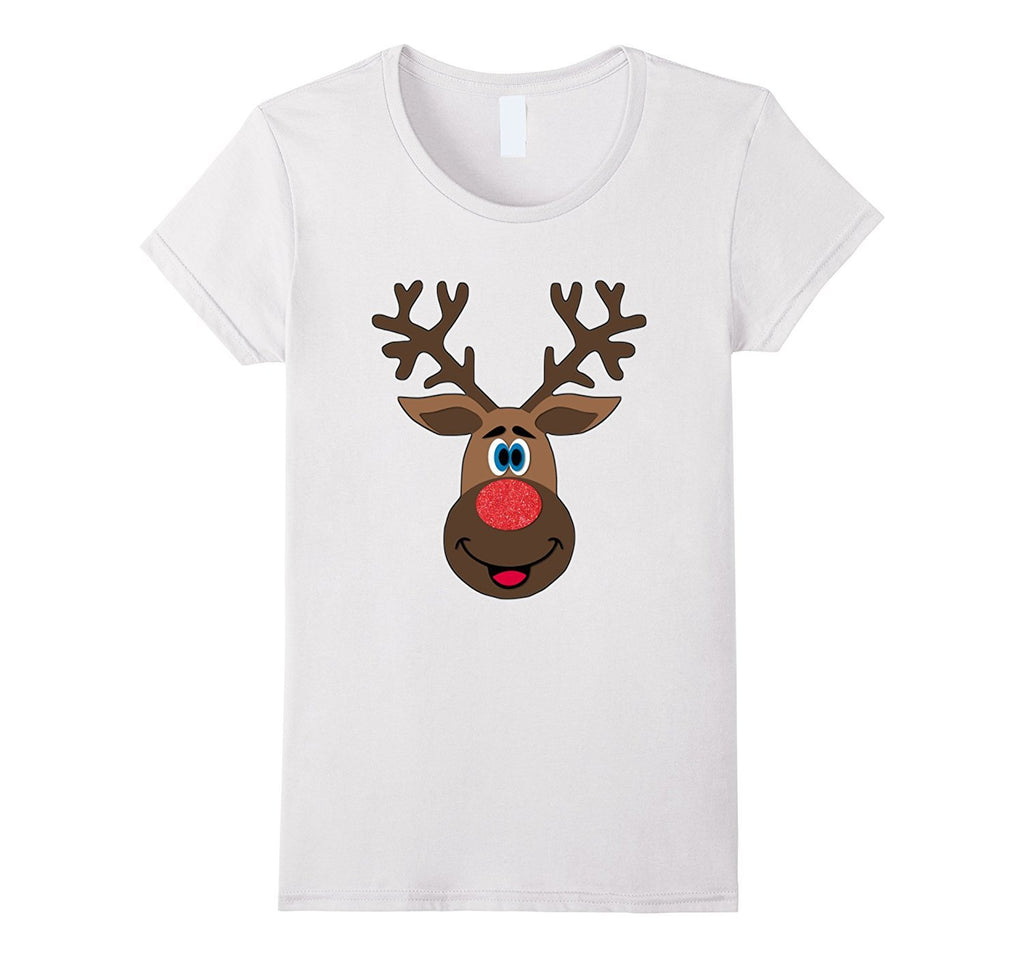 Big Reindeer Face Matching Family Christmas Shirts
