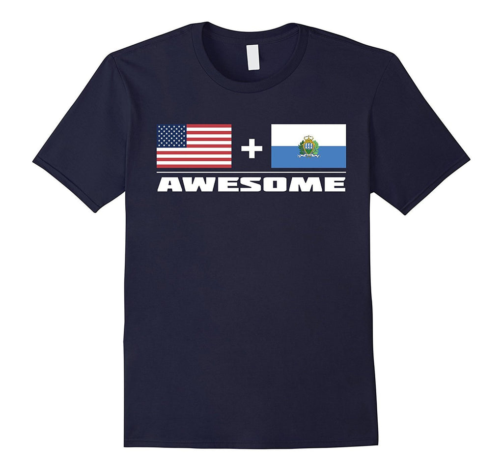 American + San Marino = Awesome Flags T-Shirt