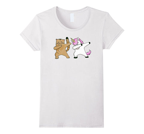 Dabbing Cat And Unicorn Funny Shirt