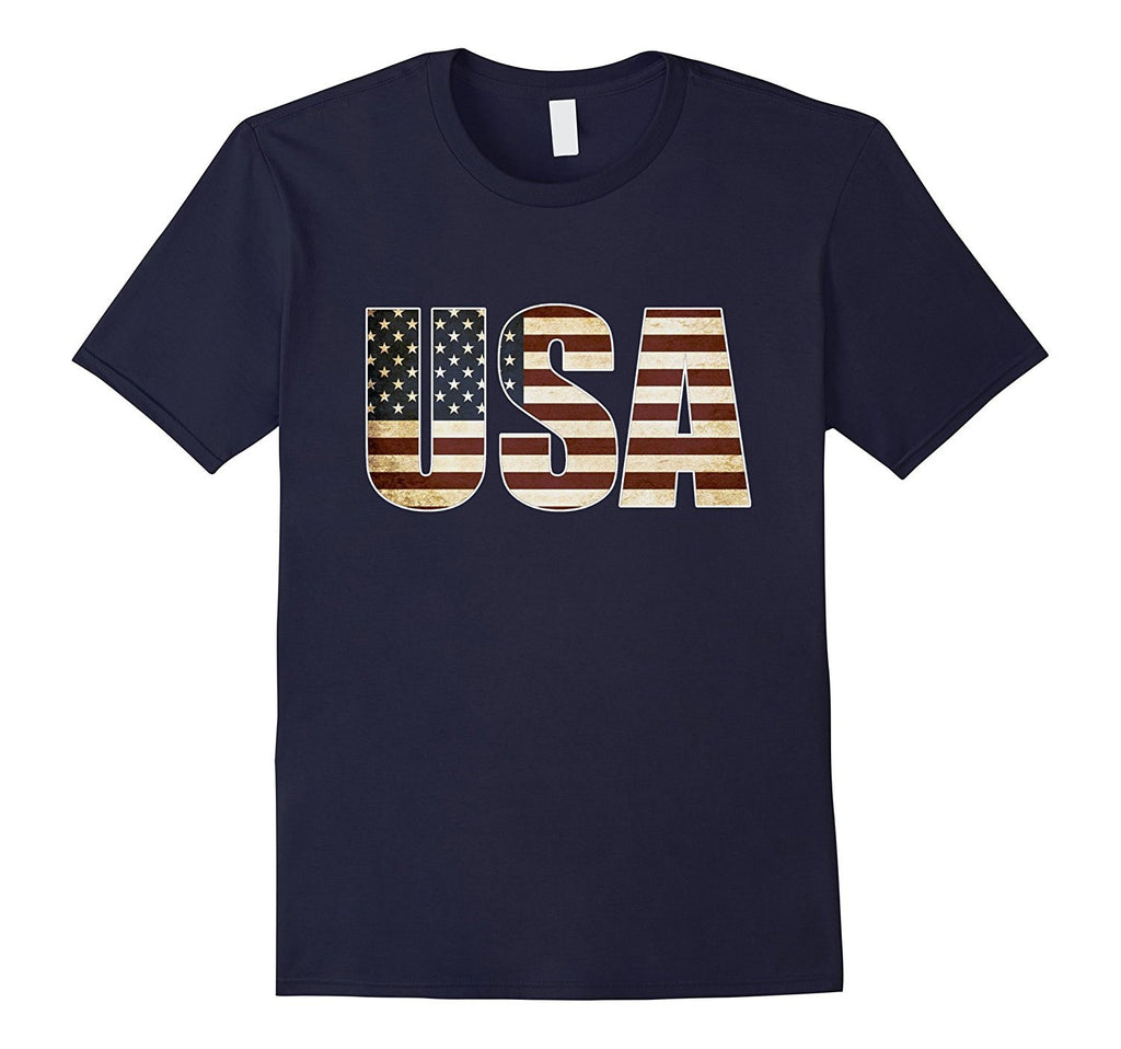 Straight Outta USA US Flag Patriotic T-shirt