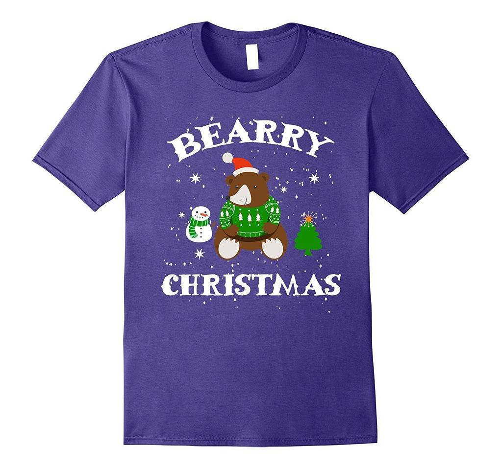 Bearry Christmas Bear T-Shirt Santa Claus Snowman Xmas Gift
