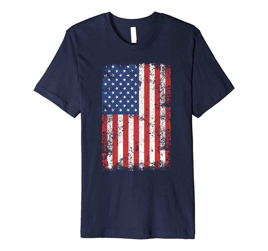 USA Flag Shirt - Distressed Patriotic American Flag Shirt