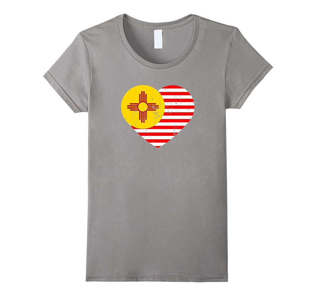 New Mexico Flag Shirt USA American Flag T-Shirt Zia Sun Tee