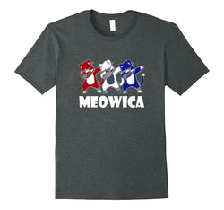 Meowica Funny Dabbing Cat Patriotic Red White and Blue