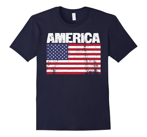 USA American Flag Vintage Patriotic Veteran's Day T-Shirt
