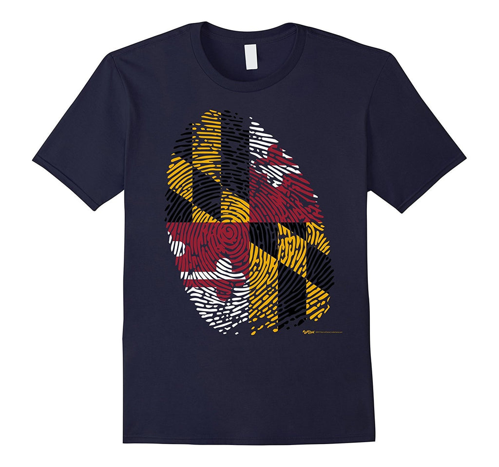 Vintage Maryland Identify USA State Flag Pride T Shirt