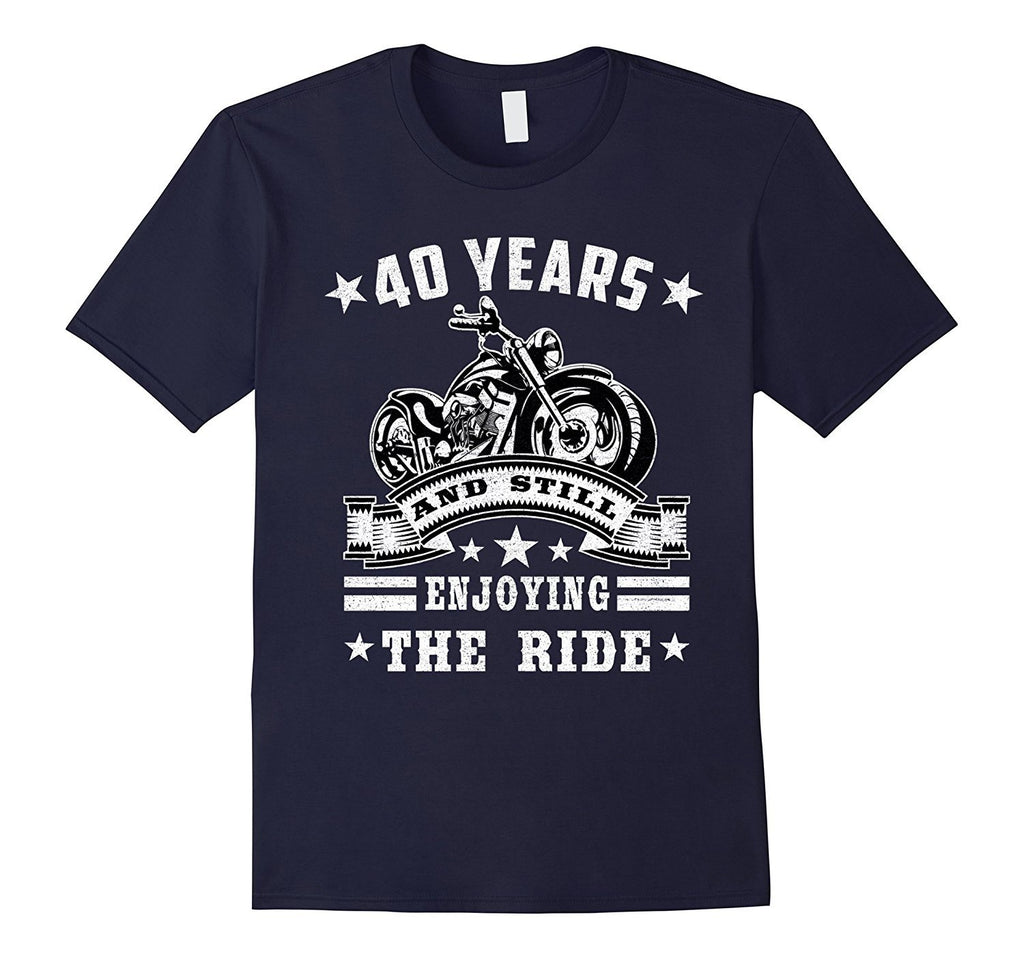 40 Years And Still Enjoy The Ride T-shirt Retro Wedding