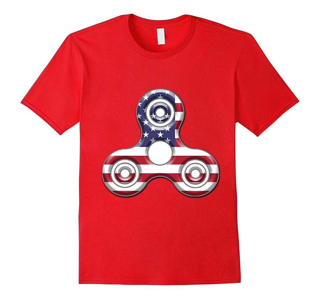 Back to School American USA Flag Fidget Spinner T-Shirt