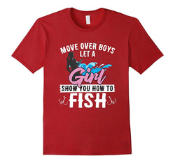 Girl's Fishing Tee for the Woman who Loves to Fish