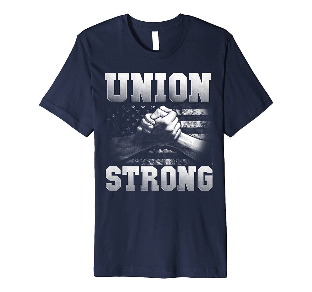 Union Strong Tee shirts Short sleeves | handshake USA flag