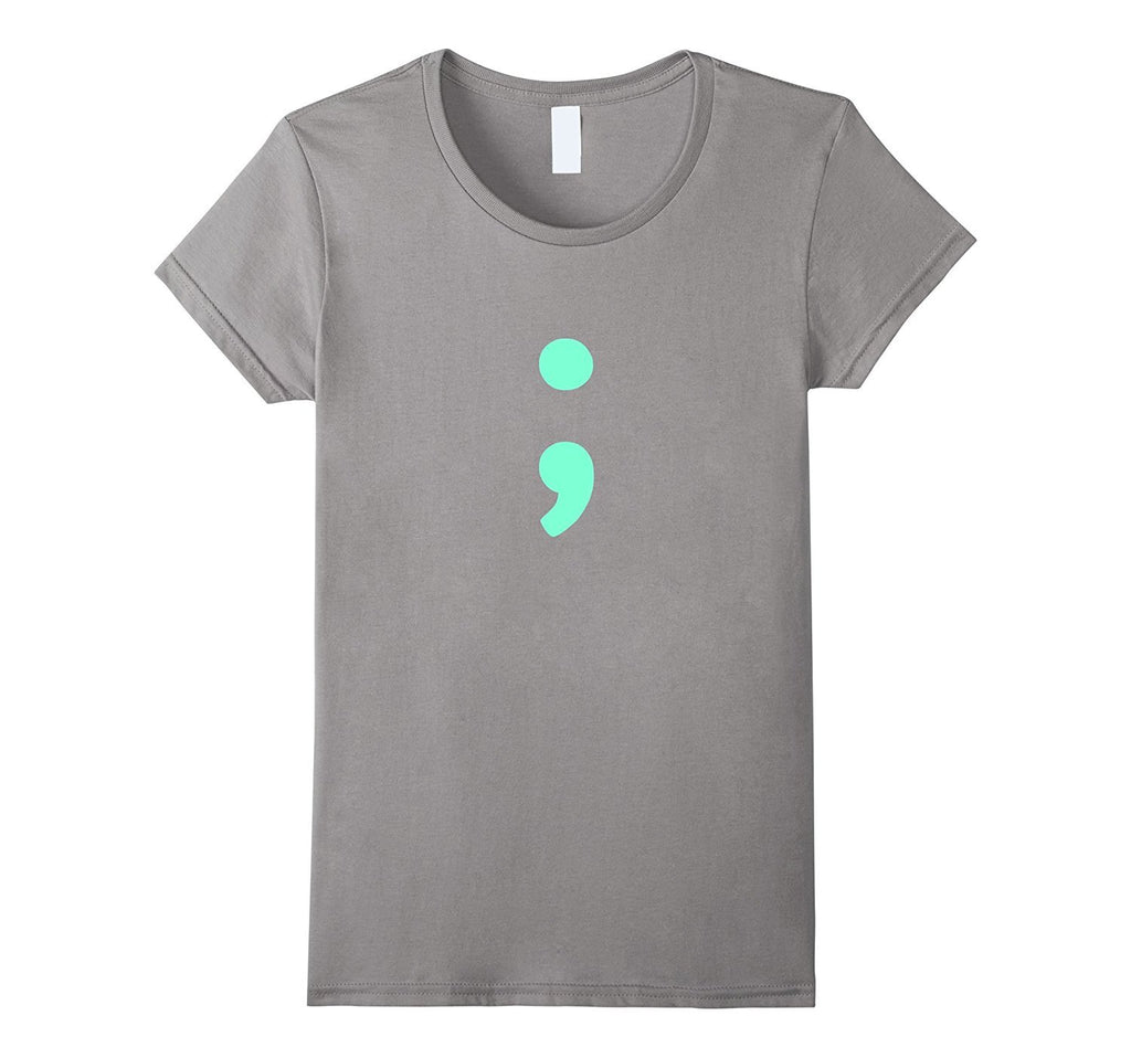 Aquamarine Semicolon T-Shirt