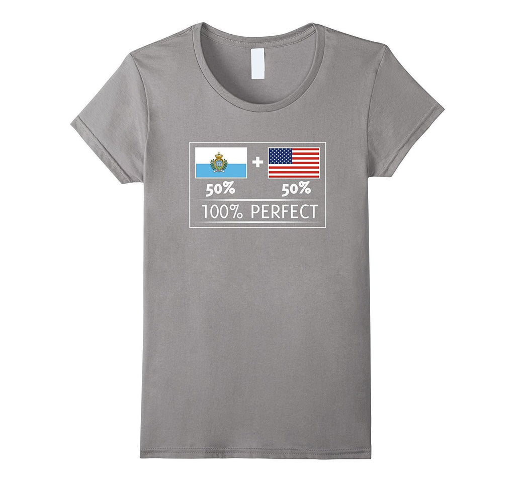 50% San Marino 50% USA Flags 100% Perfect Sammarinese Tee
