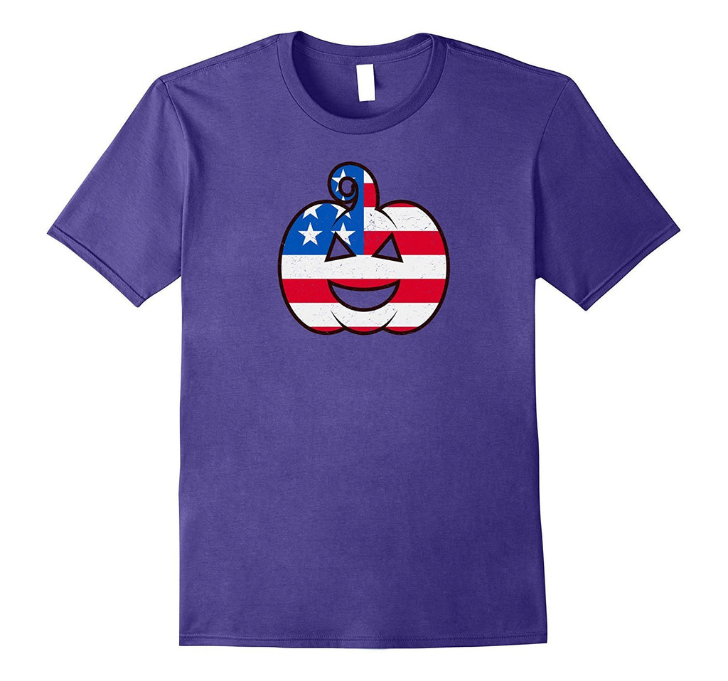 USA Halloween Pumpkin T-Shirt - American Flag Costume Gift