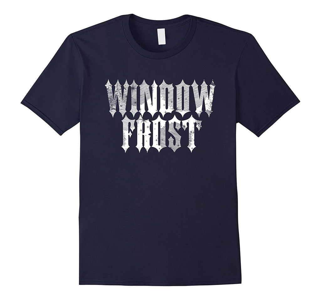 WINDOW FROST - Fake Metal T-Shirt for Christmas