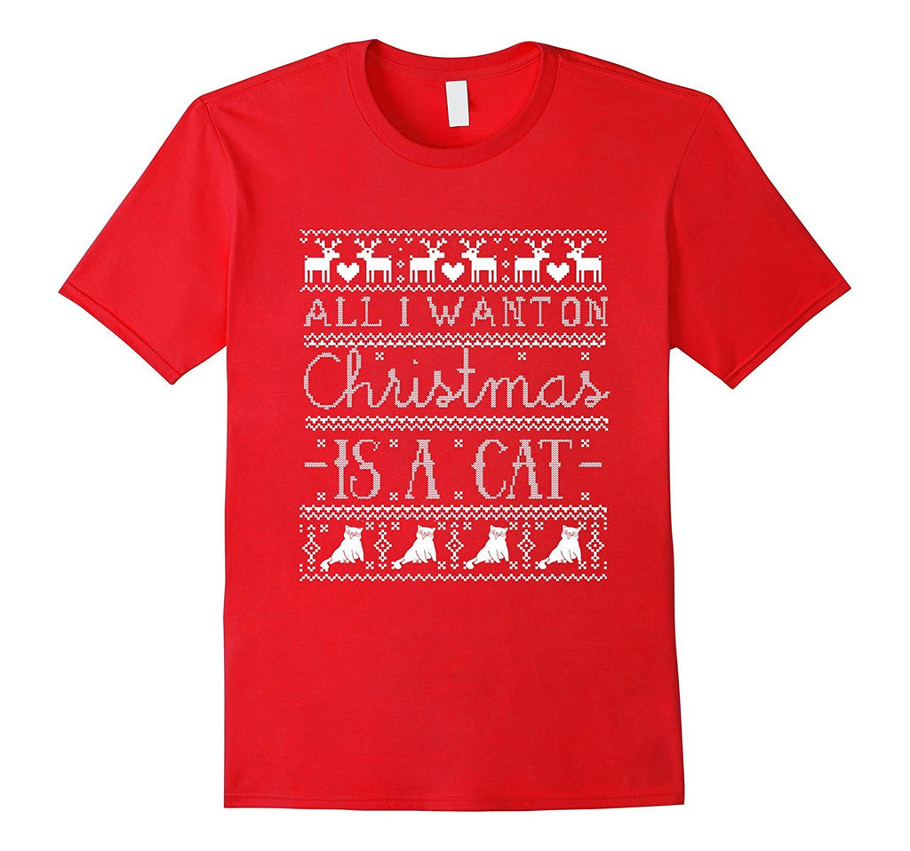 All I Want on Christmas is a Cat T-shirt