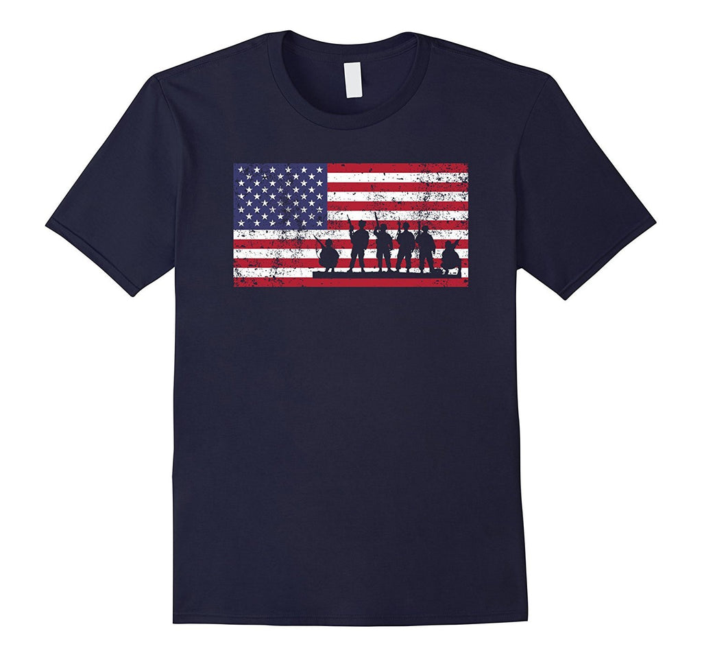 American Flag Veteran's Day USA Patriotic T-Shirt Vintage