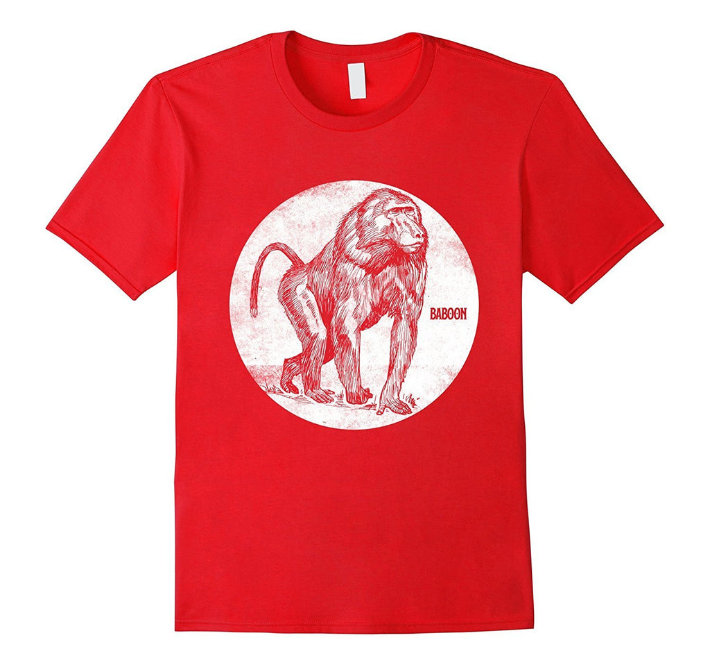 Baboon Spirit Animal T-Shirt Monkey Silhouette Tee Gifts