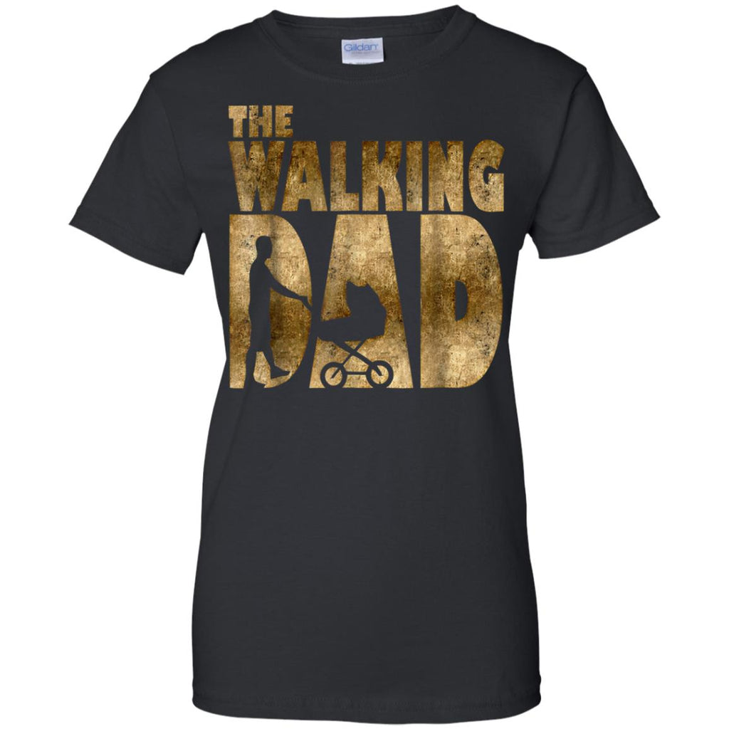 Mens Walking Dad T-Shirt for New Fathers Day Gift Husband Shirt