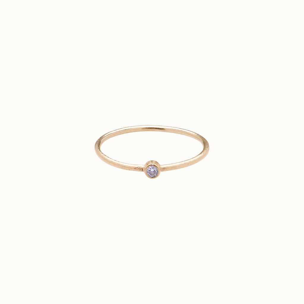 Skinny White Diamond Ring