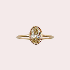 Fine Oval Diamond Ring