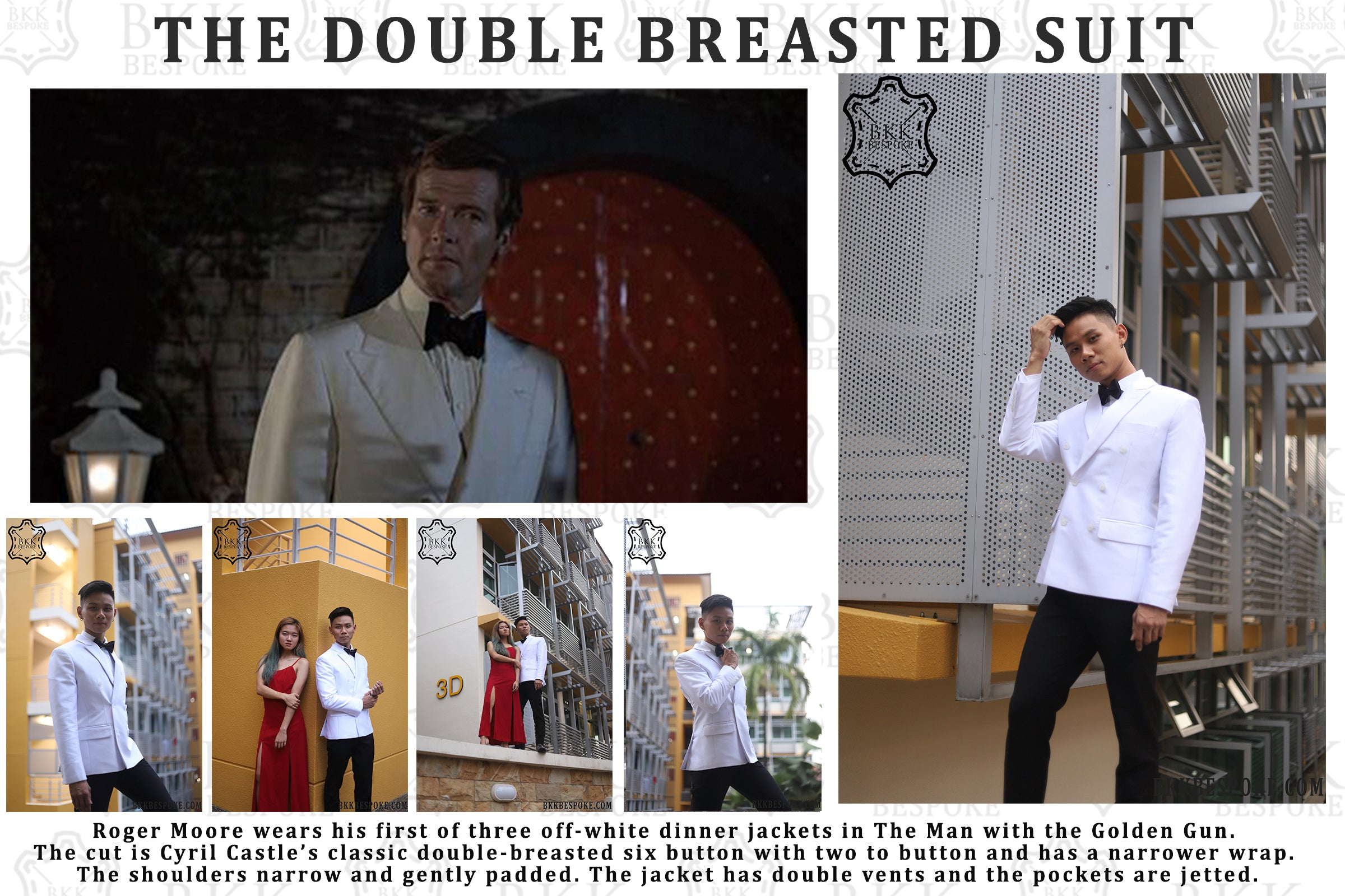 Double-Breasted Off-White Dinner Jacket