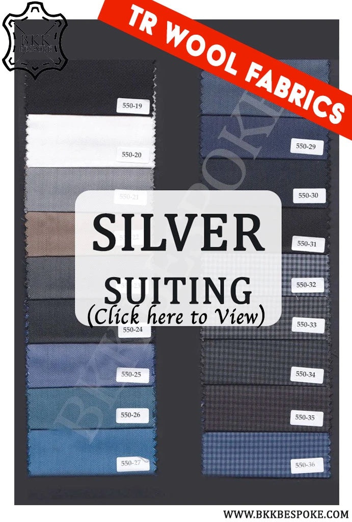 Silver Quality Suit Fabrics