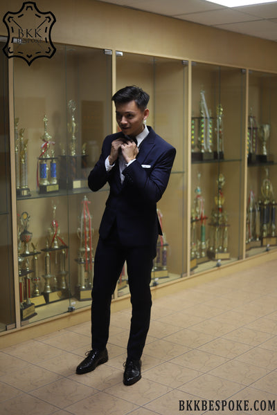 Bespoke Blue Suit @BKKBespoke - Tailor in Bangkok, Singapore and USA