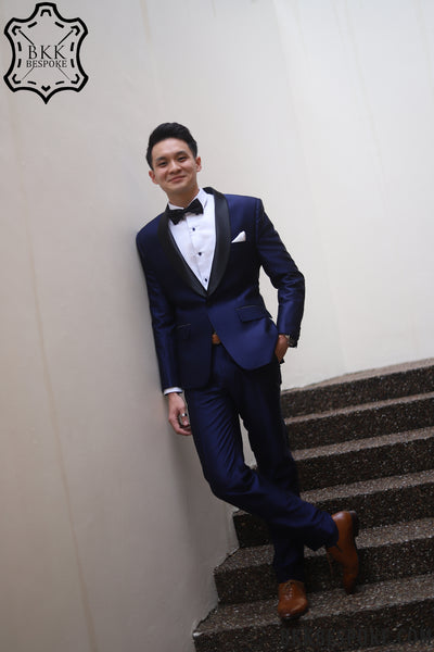 Tuxedo Blue Suit by BKKBespoke.com | Tailor in Bangkok, Singapore, and USA!