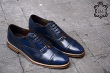 Load image into Gallery viewer, 507-1 Brogue Shoe Blue