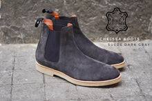 Load image into Gallery viewer, Chelsea Suede Boots Dark Gray