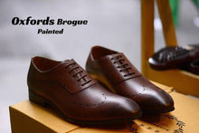 Load image into Gallery viewer, Oxfords Brogue Shoes ( Painted )