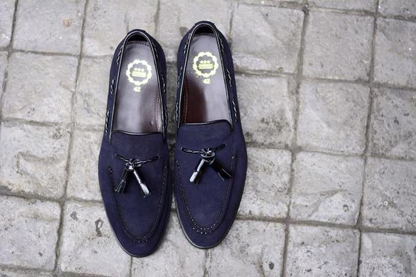 Tassels Loafer X Suede Blue