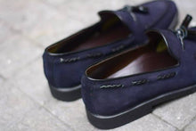 Load image into Gallery viewer, Tassels Loafer X Suede Blue