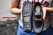 Load image into Gallery viewer, Driving Loafer horsebit - Black Ribbon