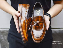 Load image into Gallery viewer, 505 Tassel Loafer Amber - Lace - Wooden Sole
