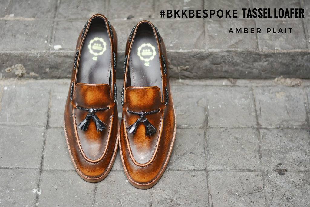 505 Tassel Loafer Amber - Plaid - Wooden Sole