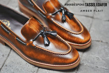 Load image into Gallery viewer, 505 Tassel Loafer Amber - Plaid - Wooden Sole